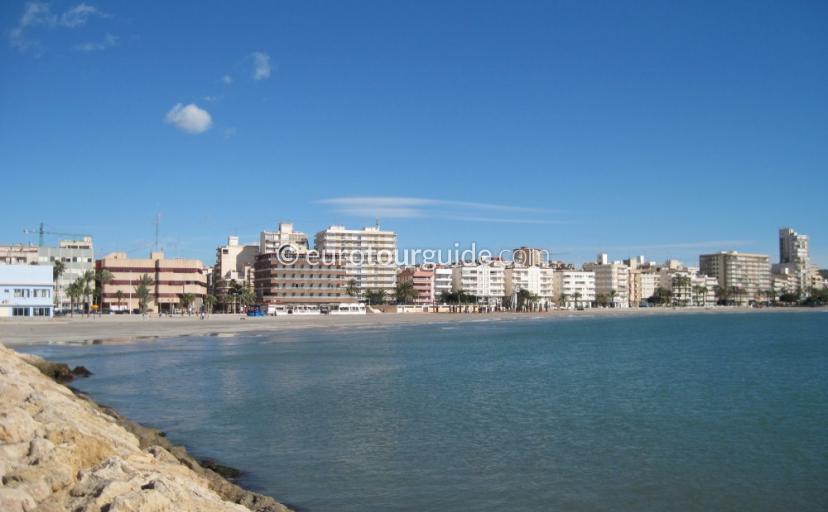 Santa Pola beach front promenade