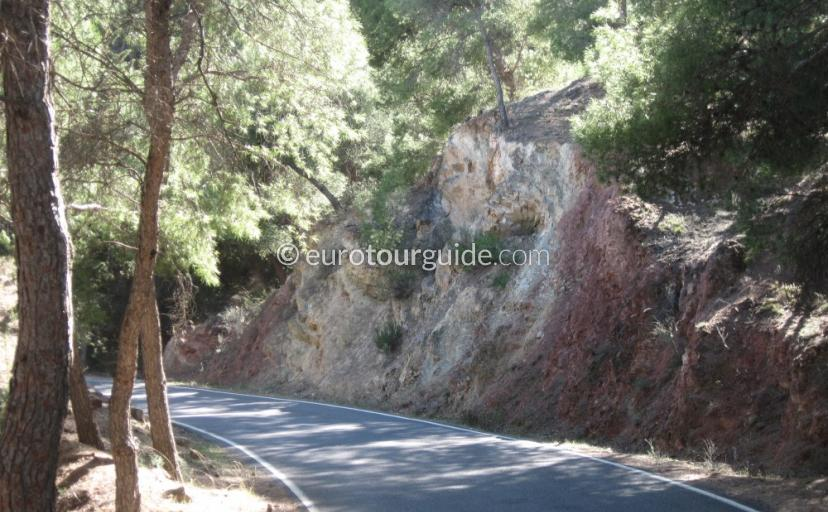 Points of interest in Sierra Espuna Regional Park Murcia Spain, the scenery is beautiful along the driving route one of many things to do and places to visit