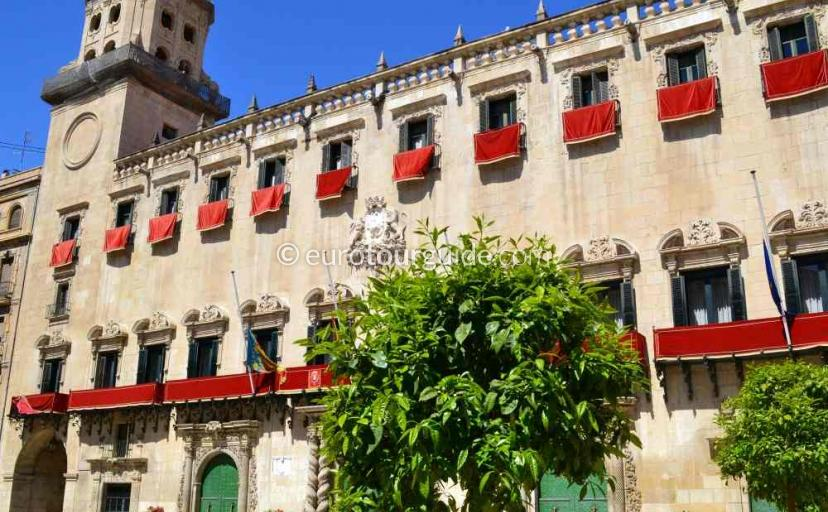Town Hall, Ayuntamiento in Alicante City Spain one of many things to do and places to go