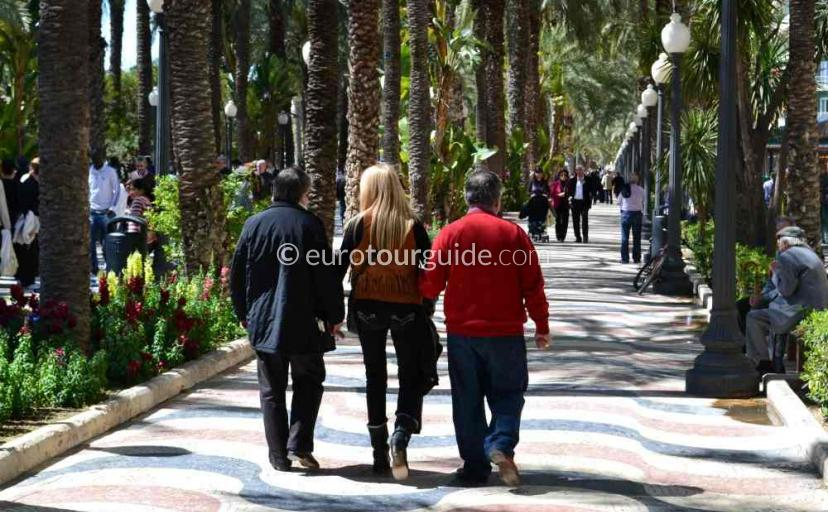The Explanada de Espana, Promenade in Alicante City Spain one of many things to do and places to visit