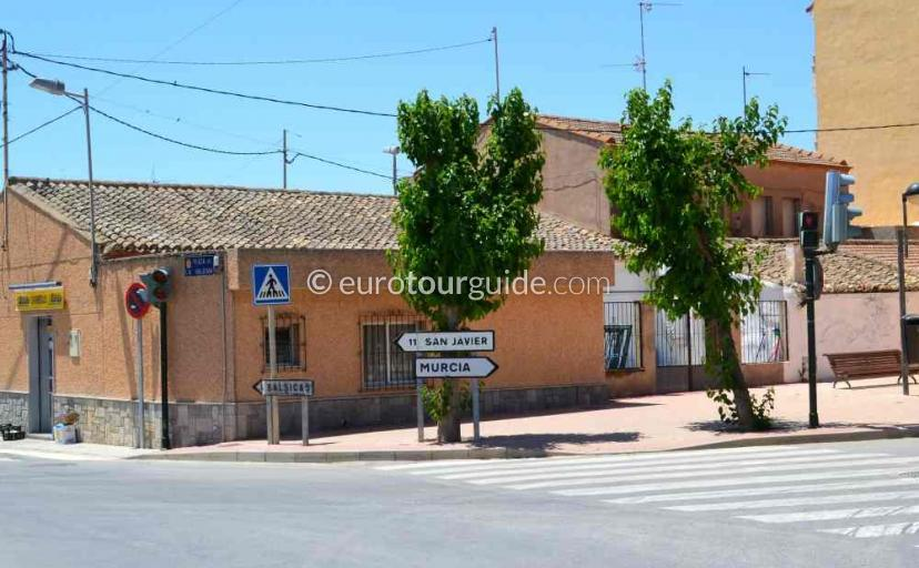 Places to visit in Avileses Murcia Spain, walking and cycling around the streets of the village one of many things to do.