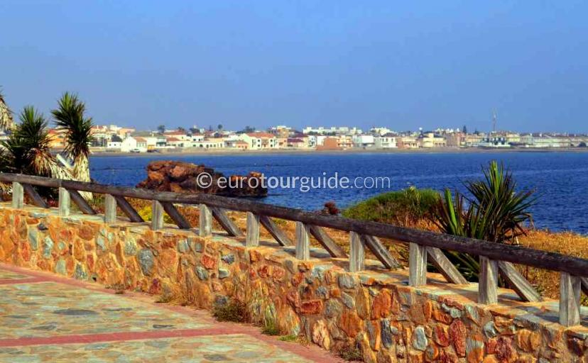 What to do in Cabo de Palos Mar Menor Costa Calida Murcia Spain, a  walk along the promenade one of many things to do and places to visit here.
