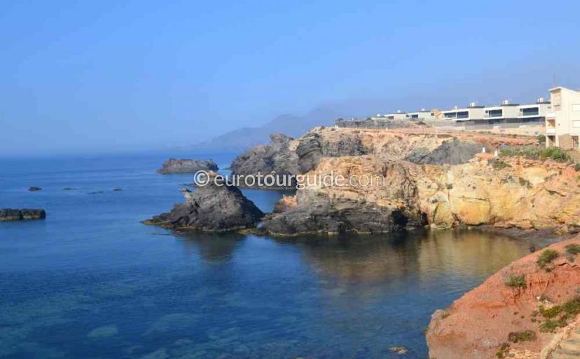What to do in Cabo de Palos Mar Menor Costa Calida Murcia Spain, Enjoying great walks along the shoreline one of many things to do and places to visit here.