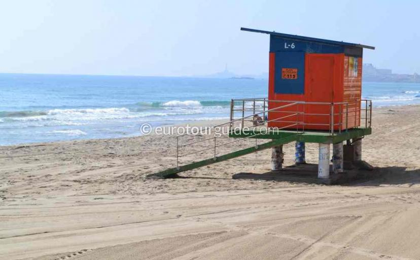 Tourist information in La Manga Mar Menor Costa Calida Murcia will have the lifeguard duty times for the season
