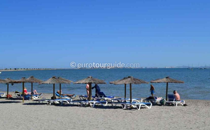 Top 10 things to do in and around Lo Pagan Mar Menor Costa Calida Murcia Spain, sunbathing on the beach one of many things to do and places to visit here.