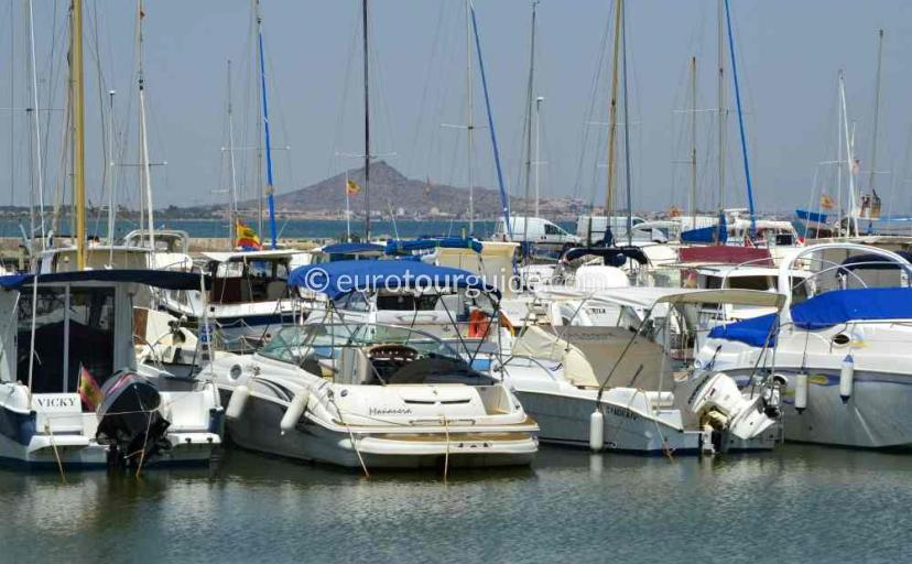 What to do in  Los Nietos Mar Menor Costa Calida Murcia Spain, lunch in the marina one of many things to do and places to visit here.