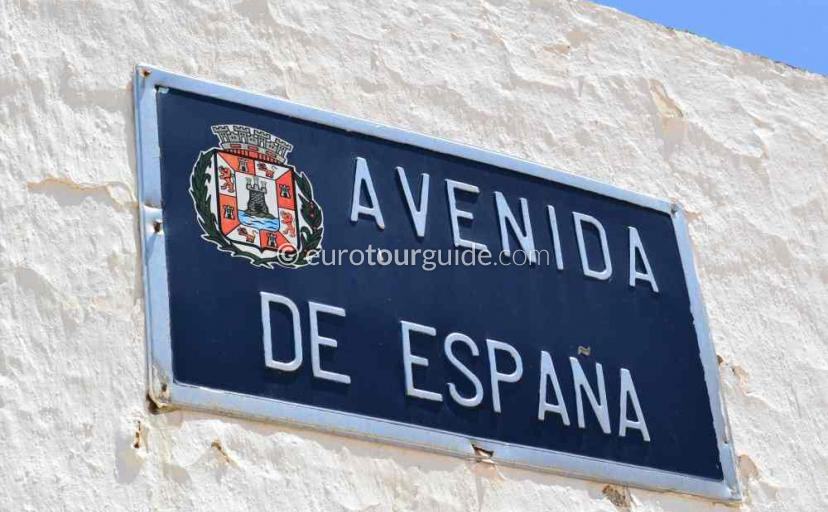 Tourist information in Los Nietos Mar Menor Costa Calida Murcia Spain.