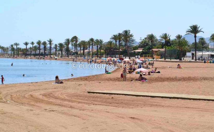 Things to do in Los Urrutias Mar de Cristal Costa Calida Murcia Spain, Sunbathing is one of many places to visit here.