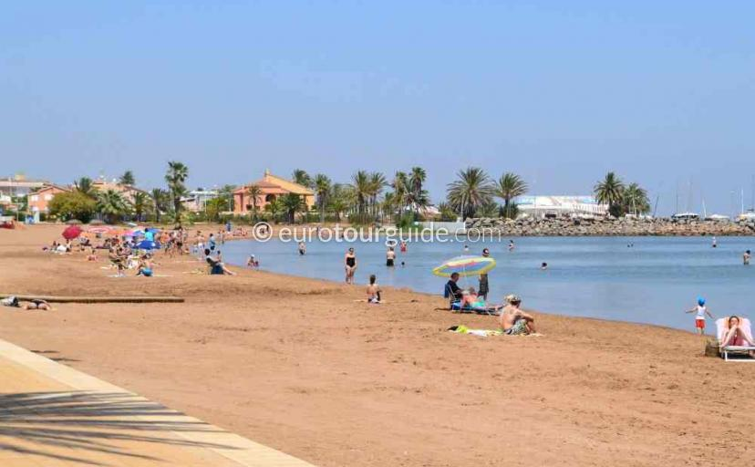 Where to go in Mar de Cristal Mar Menor Costa Calida Murcia Spain, Enjoying the beach one of many things to do and places to visit here.
