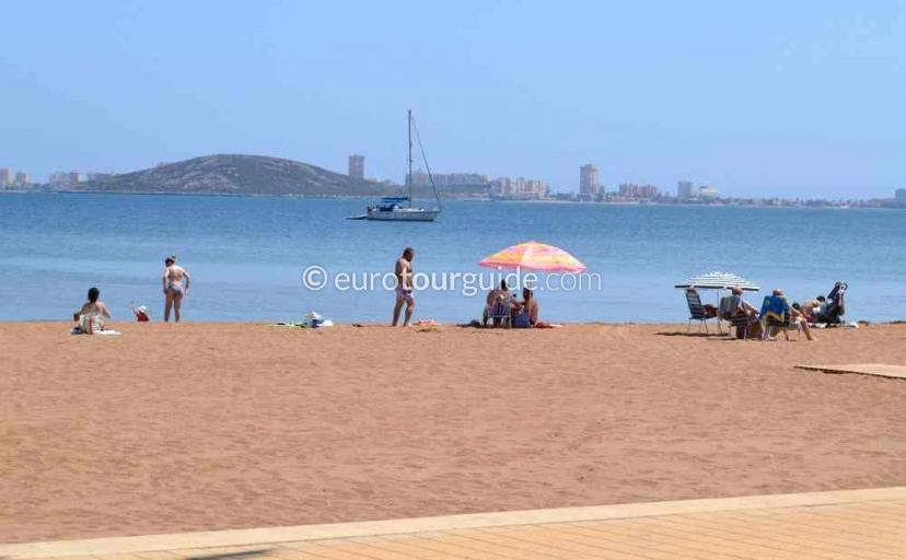 Tourist information in Mar de Cristal Mar Menor Costa Calida Murcia Spain, Swimming in the Mar Menor one of many things to do and places to visit here.