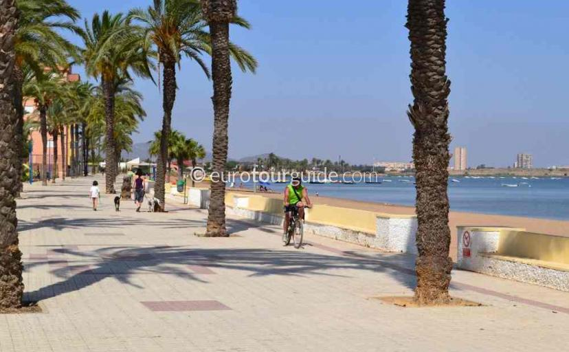 Holiday in Playa Honda Mar Menor Costa Calida Murcia Spain, Strolling along the Promenade one of many things to do and places to visit here.