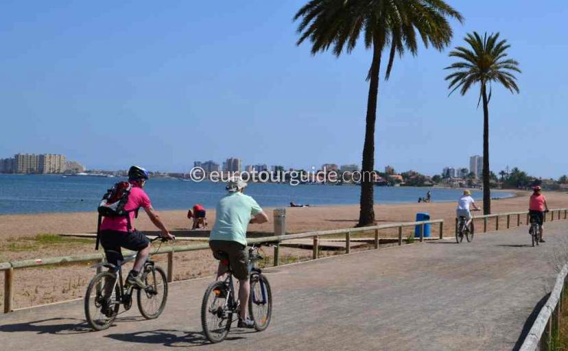 Top 10 things to do in and around Playa Honda Mar Menor Costa Calida Murcia Spain, Cycling and walking are very popular      one of many things to do and places to visit here.