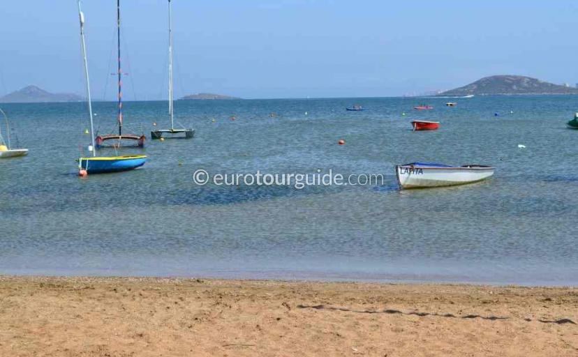 Tourist information in Playa Honda Mar Menor Costa Calida Murcia Spain.