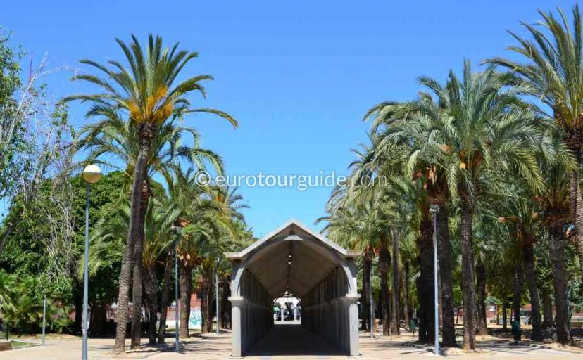Places to visit in San Javier Murcia Spain, picnic in the town park one of many things to do.