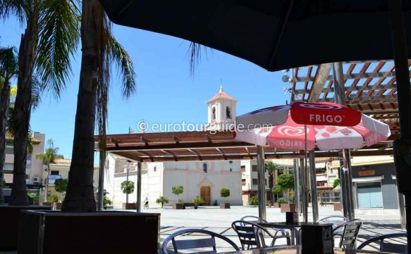 Where to eat in San Javier Murcia Spain Lots of bars and cafes in the church square offering tapas