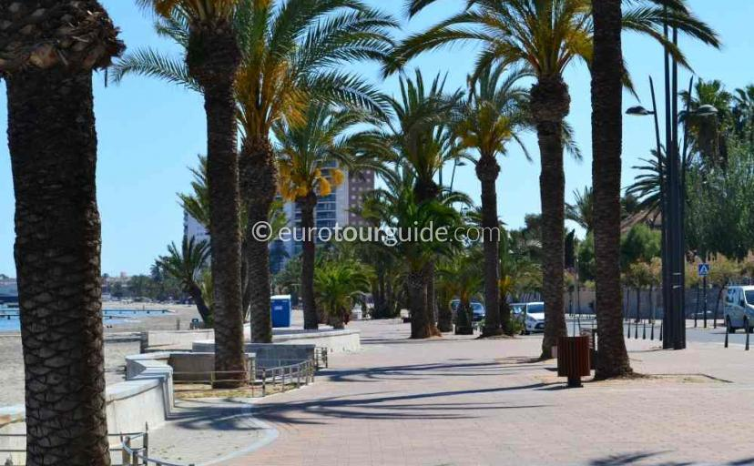 What to do in Santiago de la Ribera Mar Menor Murcia Spain, walking and cycling along the promenade one of many things to do and places to visit here.