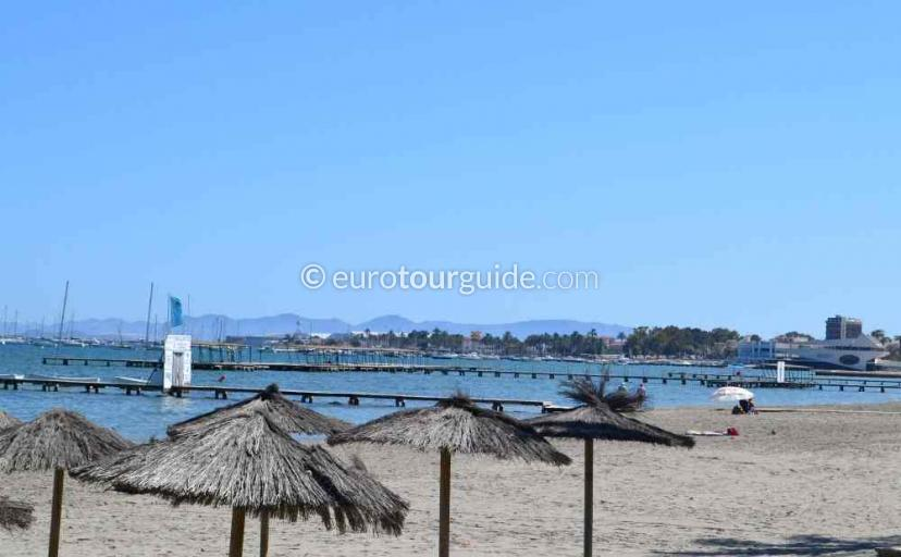 Things to do in Santiago de la Ribera Mar Menor Murcia Spain, Find a sun bed and sun lounger for the day one of many places to visit here.