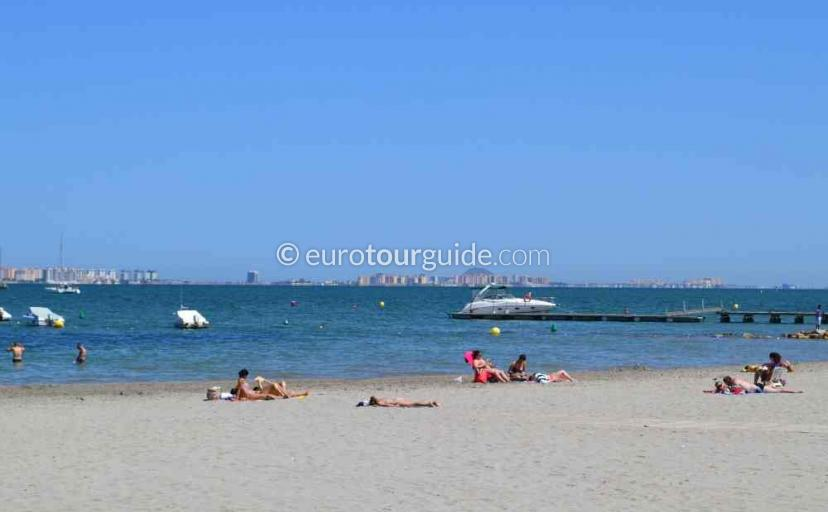 Top 10 things to do in and around Santiago de la Ribera Mar Menor Murcia Spain, the beach is a must see and one of many things to do and places to visit here.