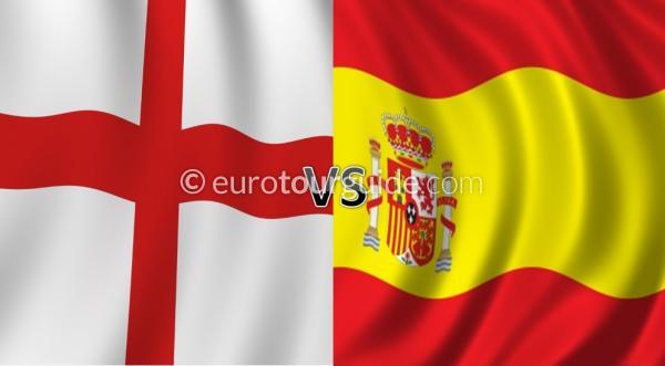 ساعت پخش زنده بازی امشب انگلیس و اسپانیا 25 آبان 95