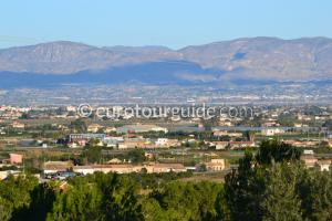 View across the Vega Baja Alicante Spain