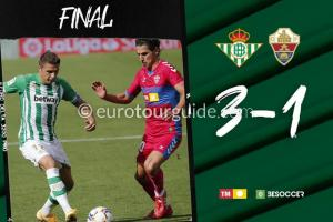 EuroTourGuide Match Report Real Betis v Elche CF 1st November 2020