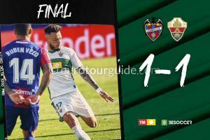 EuroTourGuide Match Report Levante v Elche CF 21st November 2020