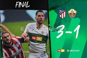 EuroTourGuide Match Report Atletico Madrid v Elche CF 19th December 2020