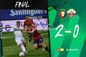 EuroTourGuide Coach Tours Match Report Osasuna v Elche CF 18th April 2021