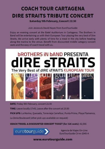 EuroTourGuide Coach Tour Dire Straits Tribute Concert 9th February 2019
