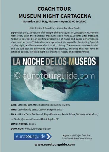 EuroTourGuide Coach Tour 18th May Cartagena Museum Night