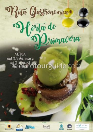 Altea Spring Garden Tapas Route 24th March - 9th April 2017