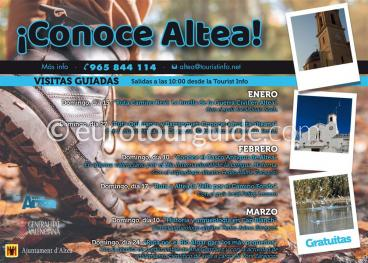 Guided Visits of Altea January.February & March 2019