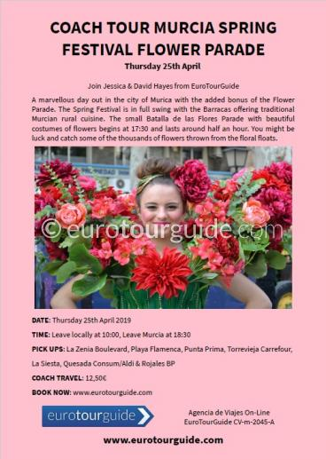 EuroTourGuide Coach Tour 25th April Murica Flower Parade