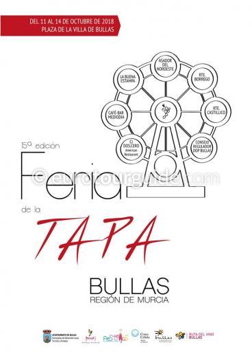 Bullas 14th Feria de la Tapa 11th-12th October 2018