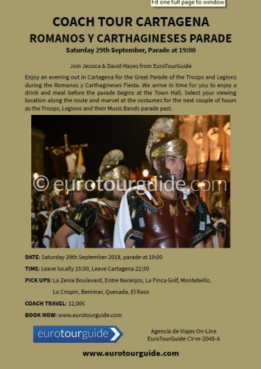 Coach Tour Cartagena Romanos y Carthagineses Parade 29th September 2018