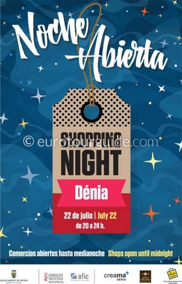 Denia Open Shopping Night  Noche Abierta 22nd July 2017