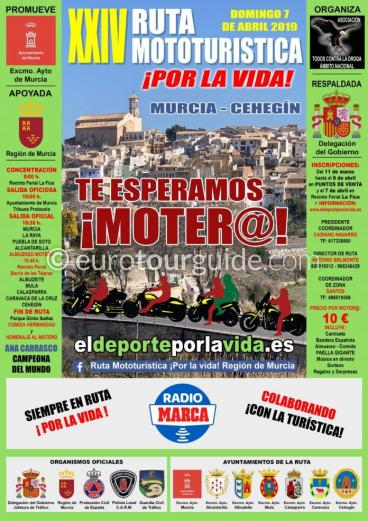 Murcia Motorbike Rally Ruta Mototurística Por La Vida 7th April 2019
