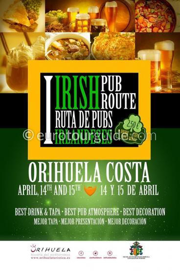Orihuela Costa Irish Tapas Route 14th & 15th April 2018