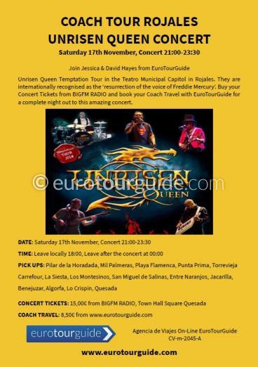 EuroTourGuide Coach Tour Queen Unrisen Concert 17th November 2018