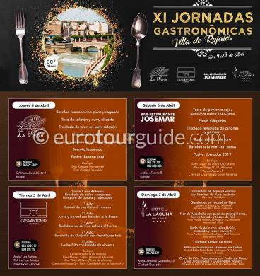 Rojales 11th Gastronomy Days 4th-7th April 2019