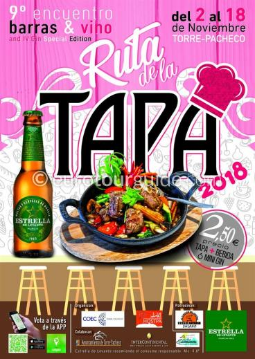 Torre Pacheco 8th Tapas Route VIX Encuentro Barras & Vino 2nd-18th November 2018