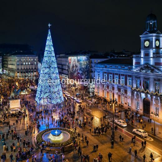 EuroTourGuide Coach Tour & Hotel Madrid Christmas Lights & Shopping 2nd -4th December 2019