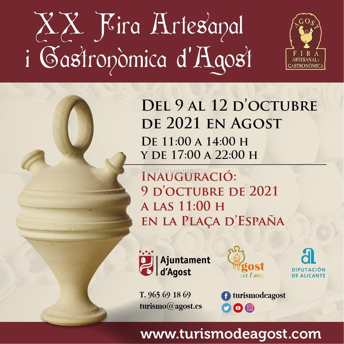 Agost 16th Craft and Gastronomic Fair 9th-12th October 2021