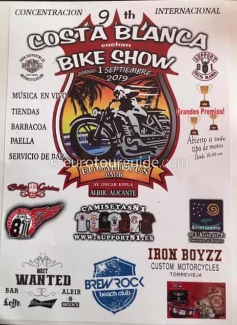 Albir 9th Costa Blanca Custom Bike Show 31st September 2019