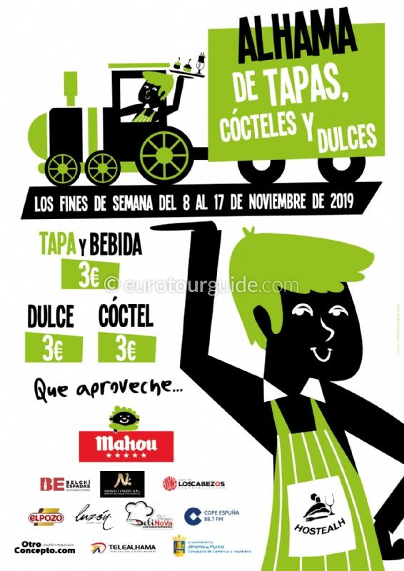 Alhama de Murcia Tapas & Cocktail Route 8th-17th November 2019