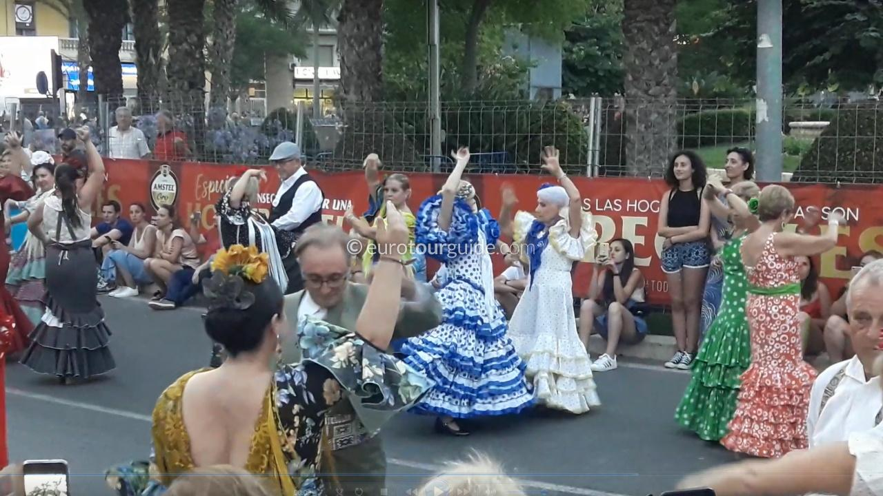 EuroTourGuide Coach Tour 23rd June Alicante Hogueras Ninots & Folk Parade