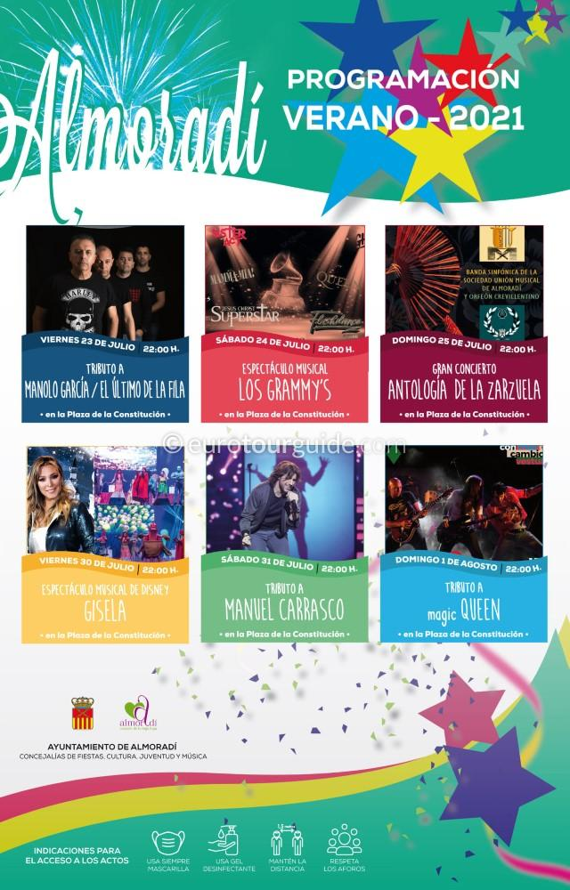 EuroTourGuide Almoradi Summer Concerts July 2021