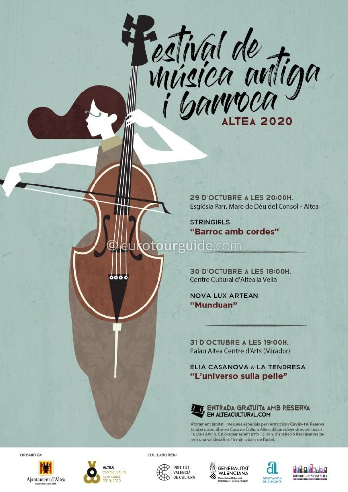 EuroTourGuide Altea Antique and Baroque Music 29th-31st October 2020