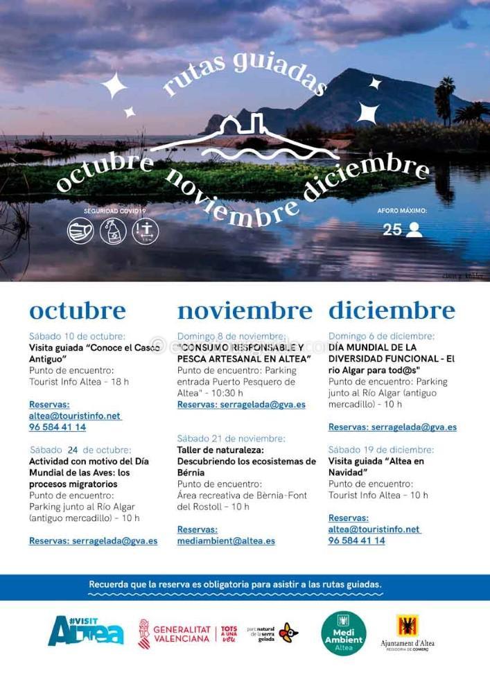 Altea Free Guided Visits October, November & December 2020