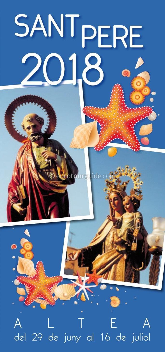 Altea Sant Pere and Virgen del Carmen Fiesta 12th-15th July 2018
